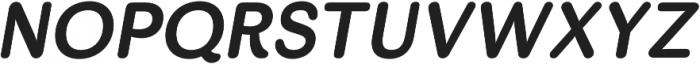 Skirt Bold Italic otf (700) Font UPPERCASE