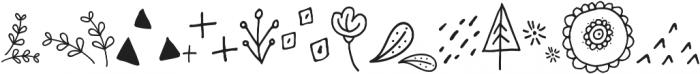 SkitCut Doodle otf (400) Font UPPERCASE
