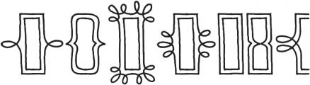 Skitch Borders otf (400) Font UPPERCASE