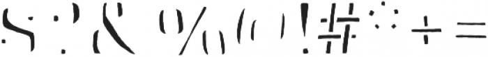 Skitch Fill otf (400) Font OTHER CHARS