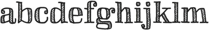 Skitch Shaded otf (400) Font LOWERCASE