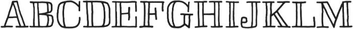 Skitch otf (400) Font UPPERCASE