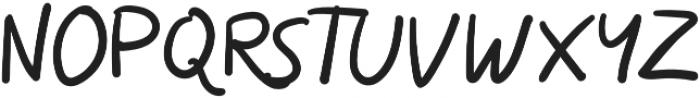 Skizzle Regular otf (400) Font UPPERCASE