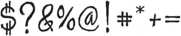 Skratch handwritten otf (400) Font OTHER CHARS