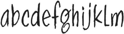 Skratch handwritten otf (400) Font LOWERCASE