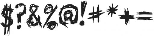 Skribler Regular otf (400) Font OTHER CHARS