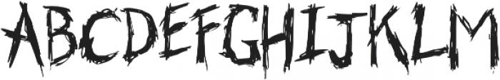 Skribler Regular otf (400) Font UPPERCASE
