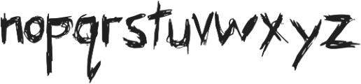 Skribler Regular otf (400) Font LOWERCASE
