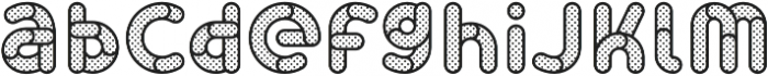 Skrova Lines and Dots otf (400) Font LOWERCASE