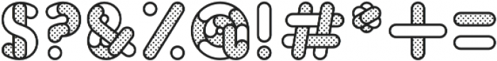 Skrova Parts Outline Dotted 1 otf (400) Font OTHER CHARS