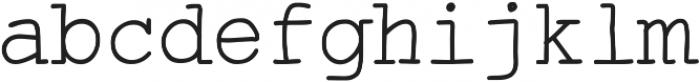 Skurier ttf (400) Font LOWERCASE