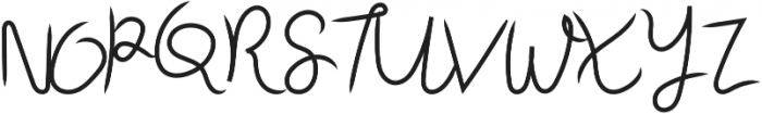 Sky Script Regular otf (400) Font UPPERCASE
