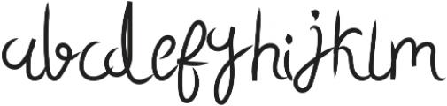 Sky Script Regular otf (400) Font LOWERCASE