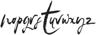 SkyLoveScript Regular otf (400) Font LOWERCASE