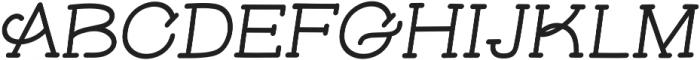 Skybird Bold Italic otf (700) Font UPPERCASE