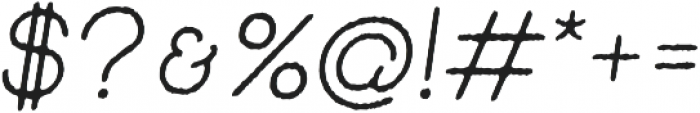 Skybird Rough Italic otf (400) Font OTHER CHARS