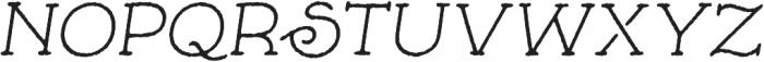 Skybird Rough Italic otf (400) Font UPPERCASE