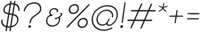 Skybird light italic otf (300) Font OTHER CHARS