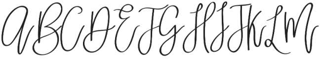 Skylar Regular otf (400) Font UPPERCASE