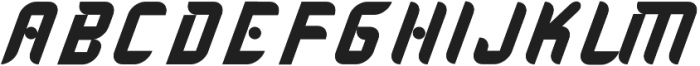 Skywalker Italic otf (400) Font UPPERCASE