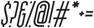 Skyward Serif Oblique otf (400) Font OTHER CHARS