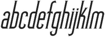 Skyward Serif Oblique otf (400) Font LOWERCASE