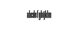 Skyline Typeface Font LOWERCASE