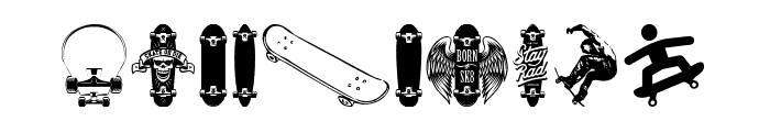 SKATE Font OTHER CHARS