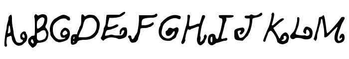 SKBlondeCurls Font UPPERCASE