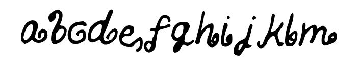 SKBlondeCurls Font LOWERCASE