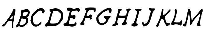 SKPerfectRhyme Font UPPERCASE