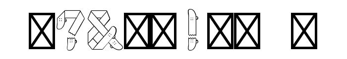 Skateboardfont Font OTHER CHARS