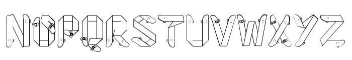 Skateboardfont Font UPPERCASE