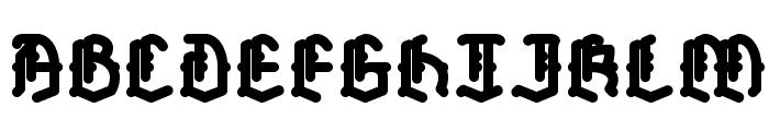 Skelett-Bold Font UPPERCASE
