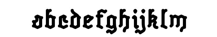 Skelett-Bold Font LOWERCASE