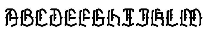 Skelett Font UPPERCASE
