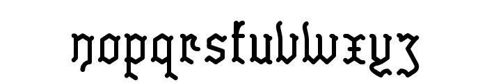 Skelett Font LOWERCASE