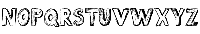 Sketch Book Font UPPERCASE