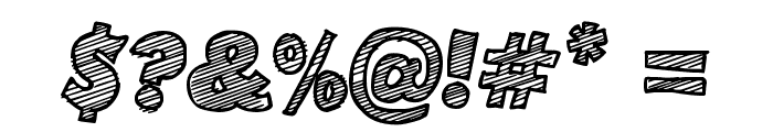Sketch Coursive Font OTHER CHARS