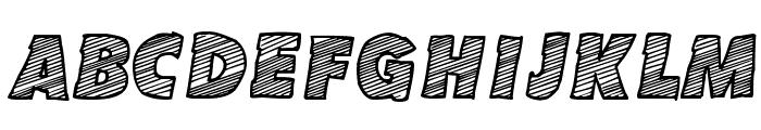 Sketch Coursive Font UPPERCASE