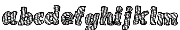 Sketch Coursive Font LOWERCASE