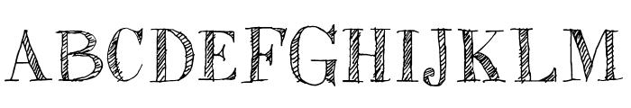 Sketch Fine Serif Font UPPERCASE