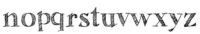 Sketch Fine Serif Font LOWERCASE