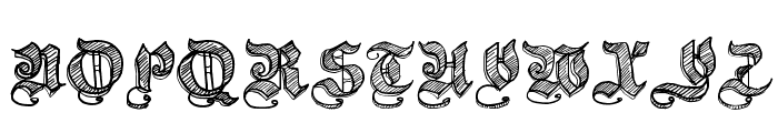 Sketch Gothic School Font UPPERCASE