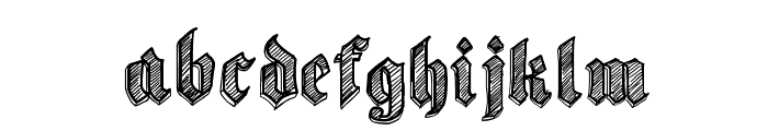 Sketch Gothic School Font LOWERCASE