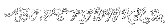 Sketch Handwriting Font UPPERCASE