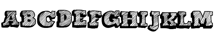 Sketch Nothing Font UPPERCASE