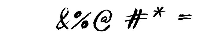 Sketch ScriptRegular Font OTHER CHARS