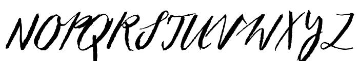 Sketch ScriptRegular Font UPPERCASE