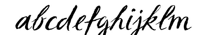 Sketch ScriptRegular Font LOWERCASE